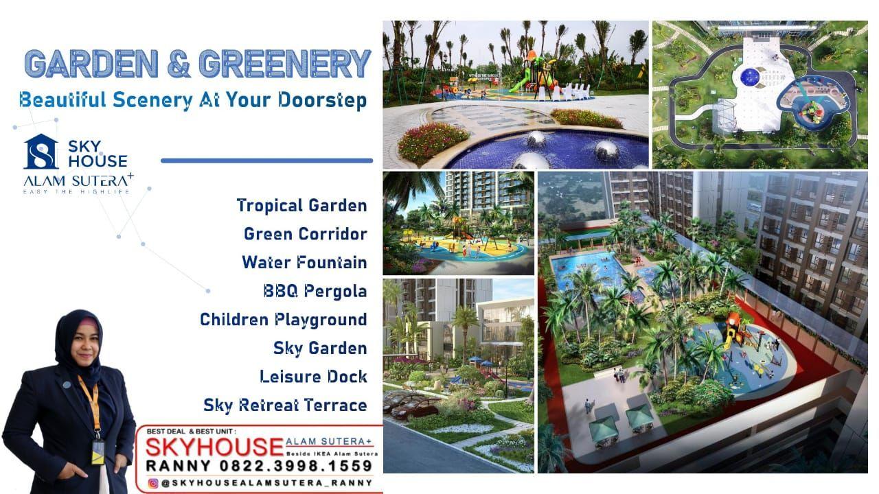 Fasilitas Garden & Greenerty Apartemen Skyhouse Alam Sutera